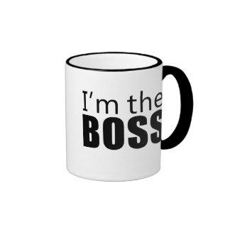 Im the Boss Ringer Coffee Mug