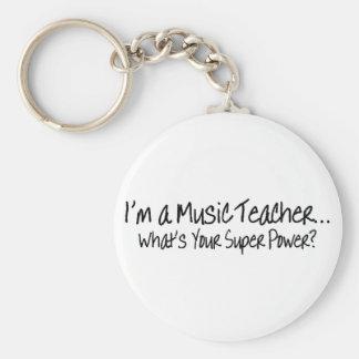 Im un professeur de musique ce qui est votre super porte-clé rond