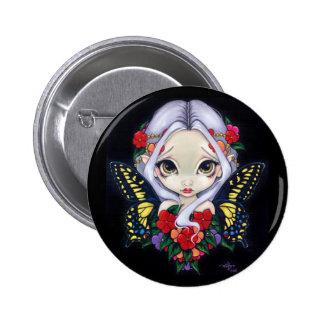 """""""Impatiens Fairy"""" Button"""