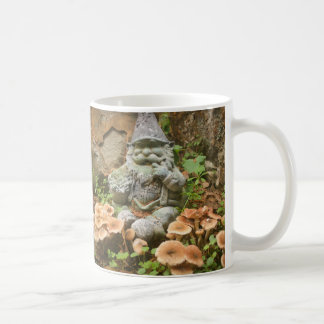Impish Mossy Gnome and toadstools Classic White Coffee Mug