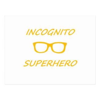 Incognito Superhero 01O Postcard