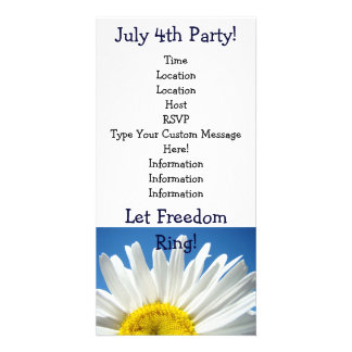 Independence Day Party! July 4th Party Invitations Personalized Photo Card