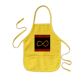 INFINITY Infinite GOLD Symbol Graphic Art - GIFTS Kids Apron