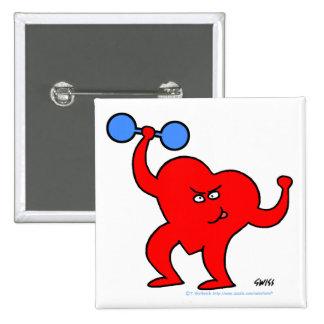 Inspirational Cartoon Heart Workout Button