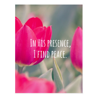 Inspirational Christian Quote God's Peace Postcard
