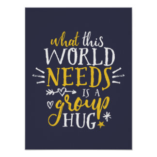 Inspirational Quote Typography Poster World Peace