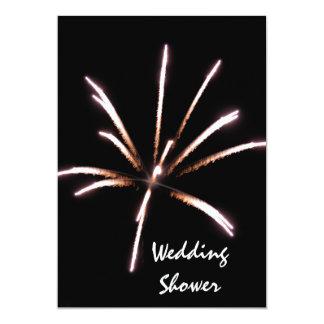 Invitation de wedding shower de feux d'artifice