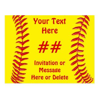 Invitations bon marché de partie du base-ball cartes postales