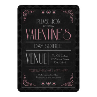 Invitations vintages de partie de Soiree de
