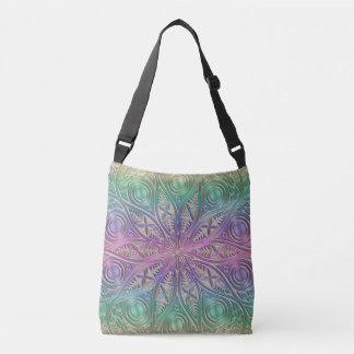 Iridescent Pink Purple Green Gold Mandala Tote Bag