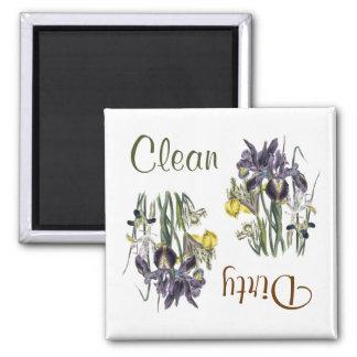 Iris Flowers Dishwasher Magnet