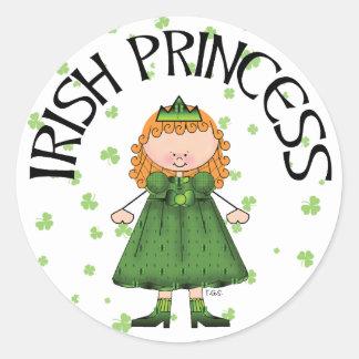 Irish Princess Redhead Round Sticker