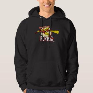 Iron Man Retro Character Graphic Hooded Sweatshirt