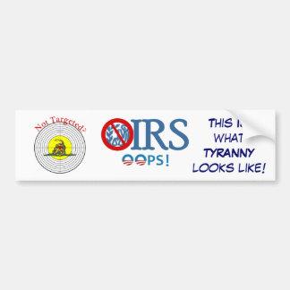 IRS Scandal 2013 Target Bumper Sticker