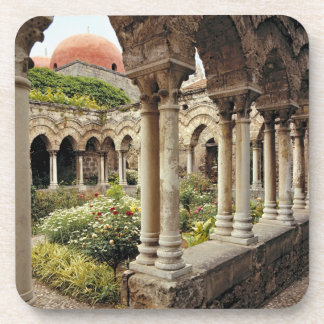 Italy, Sicily, Palermo. The cloisters survive as Beverage Coasters