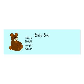 It's A Boy Baby Announcement Mini Business Card