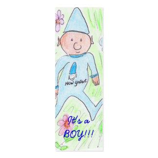, It's a BOY!!! Mini Business Card