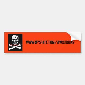 j-rogers, www.myspace.com/awolrocks bumper sticker