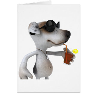Jack Russell Wearing Sunglasses Greeting Cards