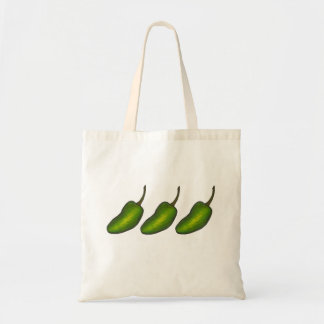 Jalapenos Green Hot Jalapeno Pepper Peppers Tote Budget Tote Bag