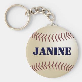 Janine Baseball Keychain by 369MyName