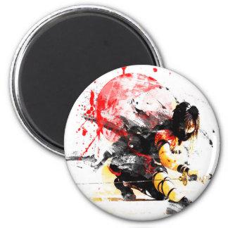 Japanese Ninja 2 Inch Round Magnet