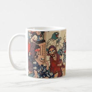 Japanese Ukiyoe Art (Kuniyoshi Utagawa) Classic White Coffee Mug