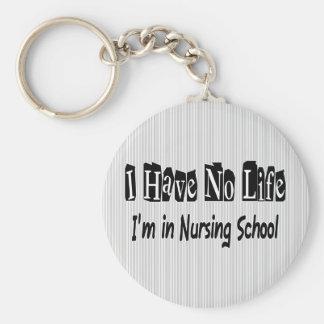 Je n'ai aucune école d'infirmières drôle de la vie porte-clé rond
