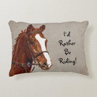 Je serais plutôt cheval d'équitation coussin déco