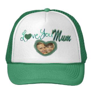 Je t'aime chapeaux de photo de maman pour la maman casquette