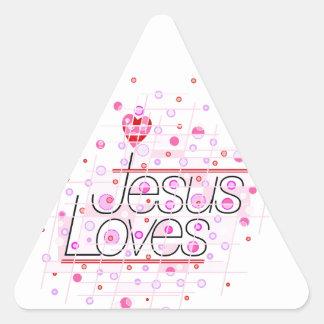 Jesus Loves U Triangle Sticker