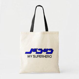 Jesus my superhero budget tote bag