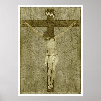 Jésus sur la croix poster