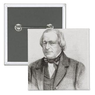 John Slidell, 1861 2 Inch Square Button