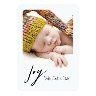 "Joy Modern Polaroid Holiday Card 5"" X 7"" Invitation Card"