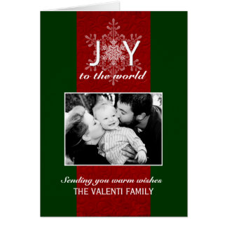 Joy to the World Customizable Photo Greeting Card