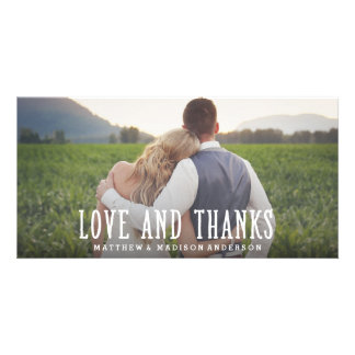 Just Married | Wedding Thank You Photo Card