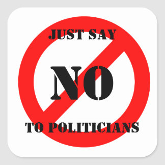 Just Say NO Square Sticker