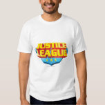 Justice League Name and Shield Logo Shirt