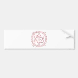 Kabbalah Star of David Bumper Sticker