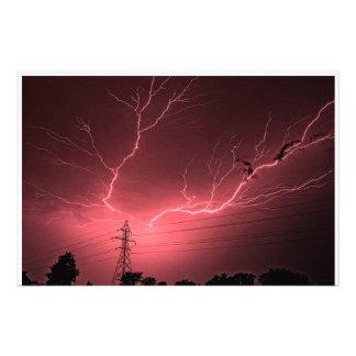 Kansas Lightning across the Sky Photo Enlargement