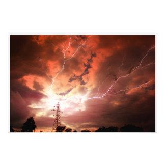 Kansas Lightning Storm PHOTO ENLARGEMENT