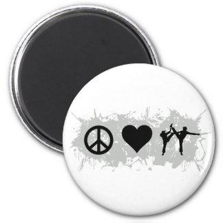 Karate 3 2 inch round magnet