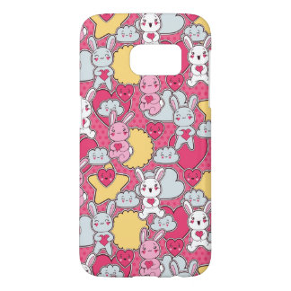 Kawaii Child Pattern with Cute Doodles 2 Samsung Galaxy S7 Case