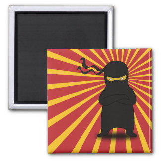 Kawaii Cute Ninja for Nerd Geeks Square Magnet