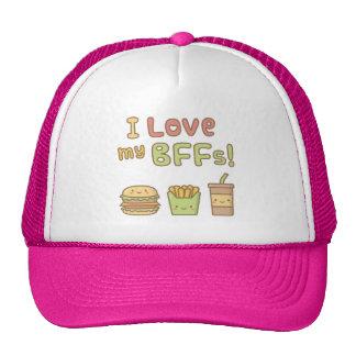 Kawaii I Love My BFFs Food Doodle Trucker Hat