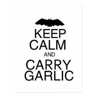 Keep Calm and Carry Garlic Postcard