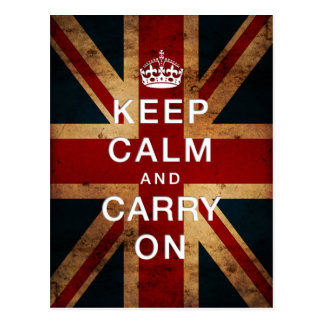"""Keep Calm and Carry On"" (Union Jack) Postcard"