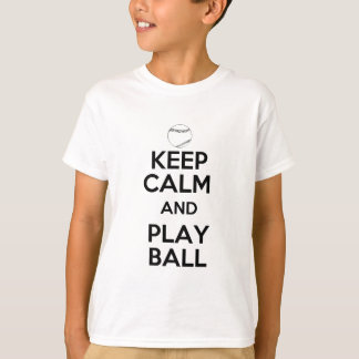 Keep Calm and Play Ball Tees