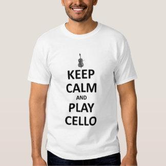 Keep calm and play cello tees